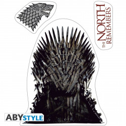 Stickers - Game of Thrones - Stark / Sigils - 2 planches de 16x11 cm - ABYstyle