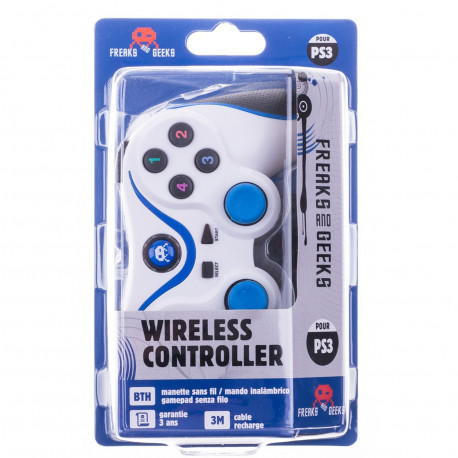 Accessoire - Playstation 3 - Manette PS3 Bluetooth + Cable de recharge 3M - Freaks and Geeks