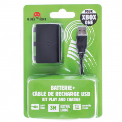Accessoire - Xbox One - Batterie + Cable de recharge Xbox One - Freaks and Geeks