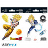 Stickers - Dragon Ball Z - Goku / Vegeta - 2 planches de 16x11 cm