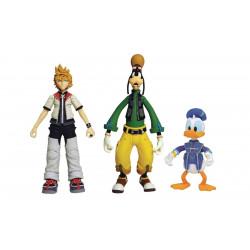 Figurine - Kingdom Hearts - Roxas Donald & Goofy - Diamond Select