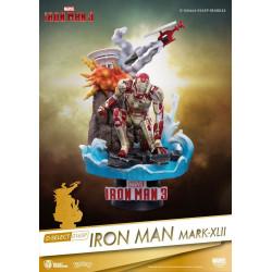 Figurine - Marvel - D-Select - Iron Man 3 Mark XLII Diorama - Beast Kingdom Toys