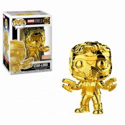 Figurine - Pop! Marvel - MCU 10th Aniversary - Chrome Star-Lord - Vinyl - Funko