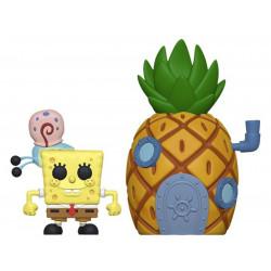 Figurine - Pop! Town - Bob l'Eponge - Spongebob & Pinapple - Vinyl - Funko