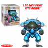 Figurine - Pop! Games - Overwatch - Blue D.VA & Meka - Vinyl - Funko
