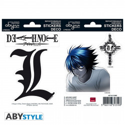 Stickers - Death Note - L - 2 planches de 16x11 cm