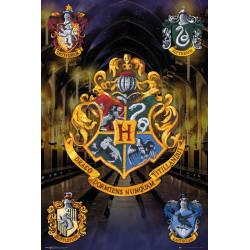 Poster - Harry Potter - Crests - 61 x 91 cm - GB eye