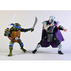 Figurine - Les Tortues Ninja - Leonardo vs Shredder - NECA