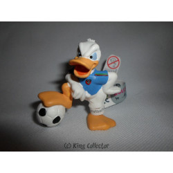 Figurine - Disney - Football - Donald Maillot Bleu - Bullyland