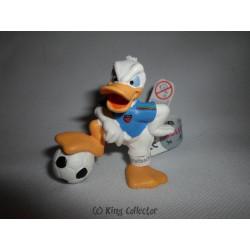 Figurine - Disney - Football - Donald Maillot Bleu - Bullyland