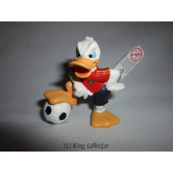 Figurine - Disney - Football - Donald Maillot Rouge - Bullyland