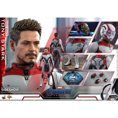Figurine - Avengers Endgame - Movie Masterpiece 1/6 Tony Stark (Team Suit) 30 cm - Hot Toys