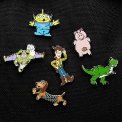 Pin's / Badge - Disney - Toy Story - Pack 6 Pin's Enamel Label - Paladone Products