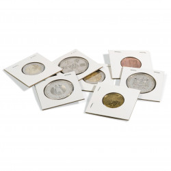 Paquet de 25 cadres à agrafer pour pièces - 22.5 mm Ø - Leuchtturm