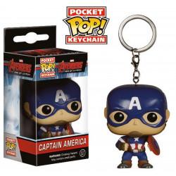 Porte-clé - Pocket Pop! Keychain - Avengers L'Ere d'Ultron - Captain America - Funko