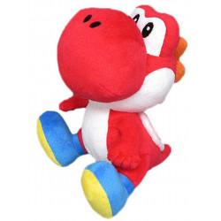 Peluche - Super Mario Bros. - Red Yoshi - 15 cm - Little Buddy Toys