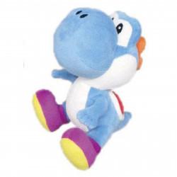 Peluche - Super Mario Bros. - Blue Yoshi - 15 cm - Little Buddy Toys