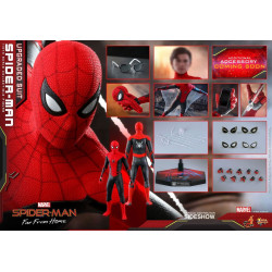 Figurine - Spider-Man : Far From Home - Movie Masterpiece 1/6 Spider-Man (Upgraded Suit) 29 cm - Hot Toys