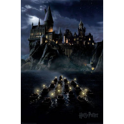 Poster - Harry Potter - Hogwarts Boats - 61 x 91 cm - Pyramid International