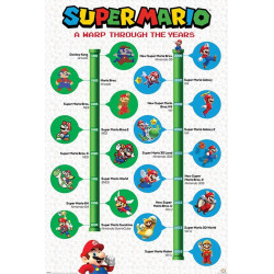 Poster - Nintendo - Super Mario - A Warp Trough the Years - 61 x 91 cm - Pyramid International