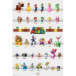 Poster - Nintendo - Super Mario - Characters Parade - 61 x 91 cm - Pyramid International