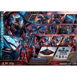 Figurine - Avengers Endgame - Movie Masterpiece 1/6 Iron Patriot 32 cm - Hot Toys