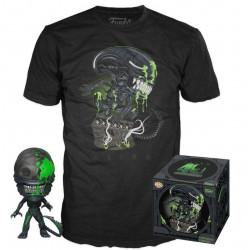 Pack POP & Tee - Alien - Figurine Pop! & T-Shirt - 40th Xenomorph Exclusive - Funko