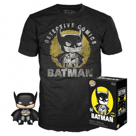Pack POP & Tee - DC Comics - Figurine Pop! & T-Shirt - Batman Sun Faded - Funko