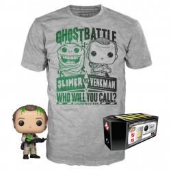 Pack POP & Tee - Ghostbusters - Figurine Pop! & T-Shirt - Peter Venkman - Funko