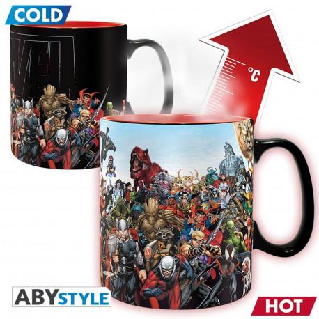 Mug / Tasse - Marvel - Thermique - Héros Marvel - 460 ml - ABYstyle