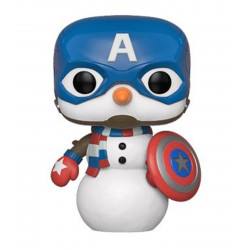 Figurine - Pop! Marvel - Holiday Captain America - Vinyl - Funko