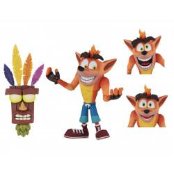 Figurine - Crash Bandicoot - Ultra Deluxe Crash with Aku Aku Mask - 14 cm - NECA