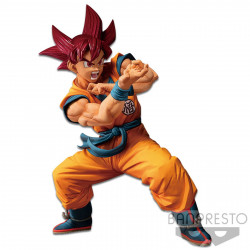 Figurine - Dragon Ball Super - Blood of Saiyans - SSJ God Goku Special ver 4 - Banpresto