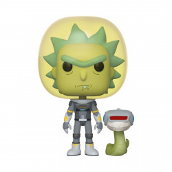 Figurine - Pop! Animation - Rick and Morty - Space Suit Rick with Snake - N° 689 - Funko