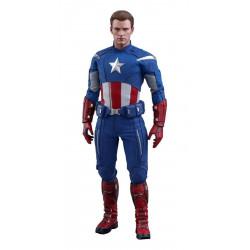 Figurine - Avengers Endgame - Movie Masterpiece 1/6 Captain America (2012 Version) 30 cm - Hot Toys