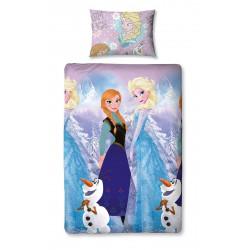 Parure de lit - Disney - La Reine des Neiges - Rotary Cristal - 135 x 200 cm