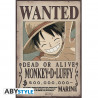 Poster - One Piece - Wanted Luffy New - 52 x 35 cm - ABYstyle