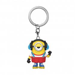 Porte-clé - Pocket Pop! Keychain - Les Minions - Roller Skating Stuart - Funko