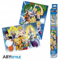 Set de 2 Posters - Dragon Ball - Groupes - 52 x 38 cm - ABYstyle