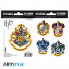 Stickers - Harry Potter - Poudlard Maisons - 2 planches de 16x11 cm - ABYstyle