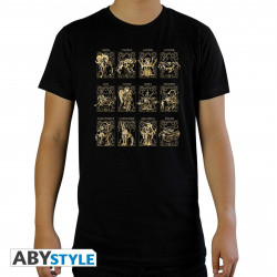 T-Shirt - Saint Seiya - 12 Armures d'Or - ABYstyle