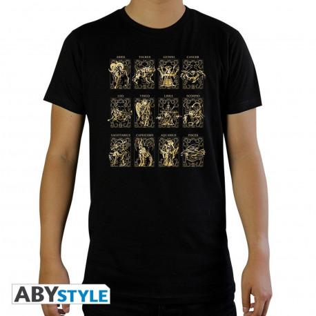 T-Shirt - Saint Seiya - 12 Armures d'Or - ABYstyle