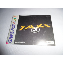 Notice - Game Boy Color - Taxi 3