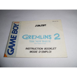 Notice - Game Boy - Gremlins 2 The New Batch