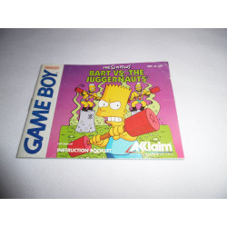 Notice - Game Boy - The Simpsons Bart vs The Juggernauts