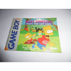 Notice - Game Boy - Bart Simpson's Escape from Camp Deadly