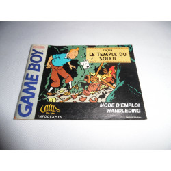 Notice - Game Boy - Tintin Le Temple du Soleil