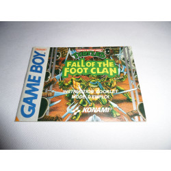 Notice - Game Boy - Teenage Mutant Hero Turtles Fall of the Foot Clan
