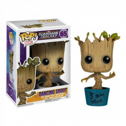 Figurine - Pop! Marvel - Gardiens de la Galaxie - Dancing I am Groot - N° 65 - Funko