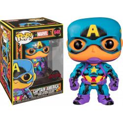Figurine - Pop! Marvel - Black Light Captain America - N° 648 - Funko